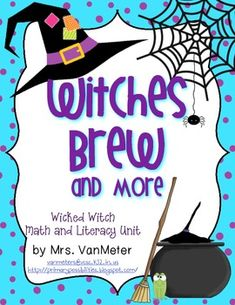 Witches Brew and More- Witch Unit Math Writing Prompts, Sentence Writing, Writing Paper, Map Math, Letter To Parents, Sorting Activities, Witches Brew, Mini Books, Sentences