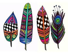 Off Today - Feather Art Print Poster of Painting by Heather Galler Abstract Modern Folk Art Feathers Más Más Feather Painting, Feather Art, Painting Abstract, Tattoo Plume, Watercolor Artists, Leaf Art, Doodle Art, Art Lessons, Bunt