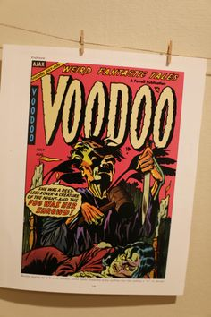 Weird Tales Voodoo Witch Cover Print Horror