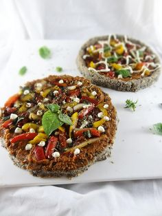 Raw Vegan Personal Sized Pizzas with Rosemary Marinara and Cashew Pine Nut Cheese Sauce - Recipe Being Shared over at my boy The Food Yogi's Site - Plus a Free Giveaway for 2 Copies of My Recipe E-Book !