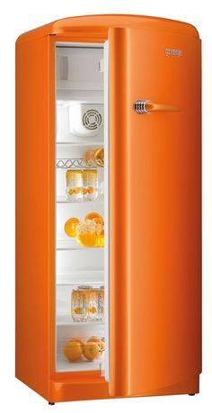 Gorenje Retro Funky Collection - Fridge freezers in three colours: raspberry pink, juicy orange and lime green. Shades Of Orange, Orange Crush, Tangerine, Favorite Color, Orange Aesthetic, Orange, Orange Kitchen, Color, Happy Colors