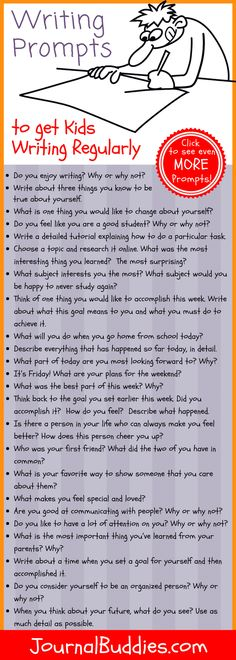 Its an English teachers worst-kept secret: the more kids write the better they get at writing. To help you get your students writing regularly weve created a special month-long series of writing prompts to use in your middle school classroom. Writing Strategies, Writing Lessons, Kids Writing, Teaching Writing, Writing Activities, Creative Writing, Math Lessons, Teaching Themes, Middle School Writing Prompts