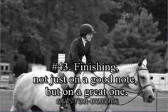 This was how I ended my first real horse show back in Sept. It started out rough but ended great!