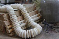 Bone disk beads