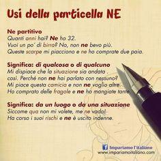 Ripassiamo gli usi della particella NE #learnitalian #learningitalian…