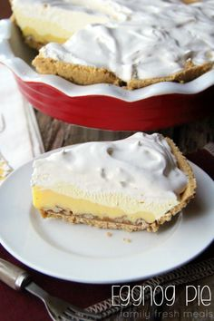 Triple-Layer Eggnog Pie --- FamilyFreshMeals.com