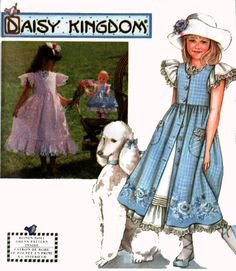 Girls' Pinafore Dress with Matching Doll clothes Simplicity 7010 Daisy Kingdom Sewing Pattern Size 7-10 UNCUT by sandritocat on Etsy