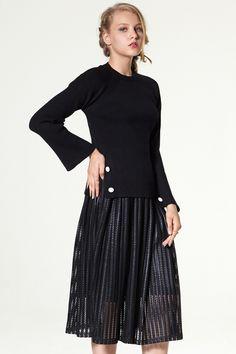 Maroa Skirt Full Skirt Discover the latest fashion trends online at storets.com #Knit Skirt #denim shirt #Long Skirt