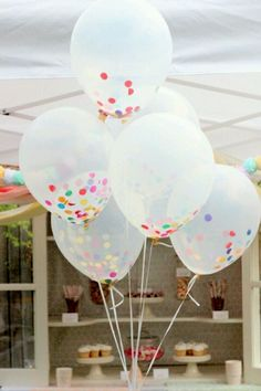Birthday ideas - confetti balloons and put paint in some an throw darts at them ken kens birthday