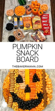 Build an adorable and delicious Pumpkin Snack Board for a Halloween or fall party that is sure to WOW your crowd! Build an adorable and delicious Pumpkin Snack Board for a Halloween or fall party that is sure to WOW your crowd! Halloween Snacks, Fall Snacks, Theme Halloween, Snacks Für Party, Halloween Birthday, Halloween Diy, Halloween Recipe, Fall Party Foods, Halloween Makeup