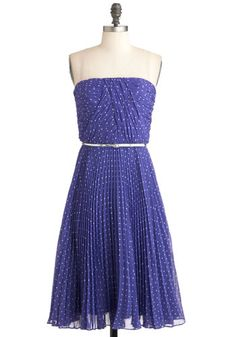 elegant violet and polka dot dress
