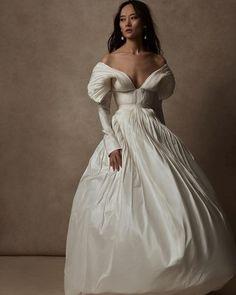 Top 30 Hottest Wedding Dresses: Guide To Every Silhouette ❤ hottest wedding dresses simple with sleeves strapless neckline danielle frankel #weddingforward #wedding #bride #weddingoutfit #bridaloutfit #weddinggown