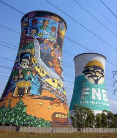 Painted Towers, Soweto, South Africa