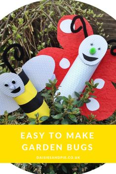 Easy summer craft for kids, make garden bugs, summer fun