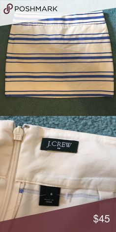 JCrew Mini Skirt Classic mini skirt for day or night. Zip back. J. Crew Skirts Mini