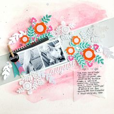 A Day In The Life Layout by Danielle Flanders for Papertrey Ink (September 2014)