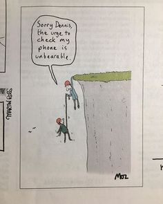 Got this one in the current Private Eye magazine. Private Eye Magazine, Climbers, Addiction, Smartphone, Cartoons, Social Media, Exercise, Eyes, Iphone