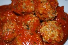 The Best Paleo Meatball recipe!! They are our favorites! Sauce is super simple and good tasting too!
