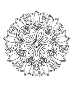 Circular pattern in the form of a mandala. Kreismuster in F Mandala Art, Mandala Design, Mandala Drawing, Mandala Painting, Mandala Pattern, Dot Painting, Mandala Coloring Pages, Colouring Pages, Coloring Books