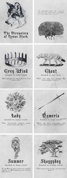 House Stark + Direwolves