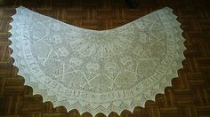 Circle shawl worked in the round, or may be worked flat in 9 to 15 panels for semi-circle