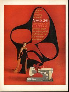 1958-Necchi-Supernova-Ultra-Sewing-Machine-Art-Print-Ad