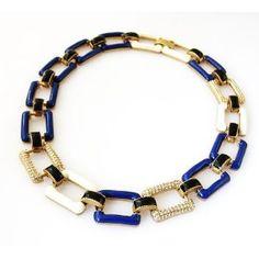 J Crew statement necklace blue