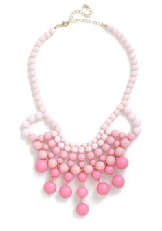 What About Bauble? Necklace - Statement, Pink, Solid, Beads