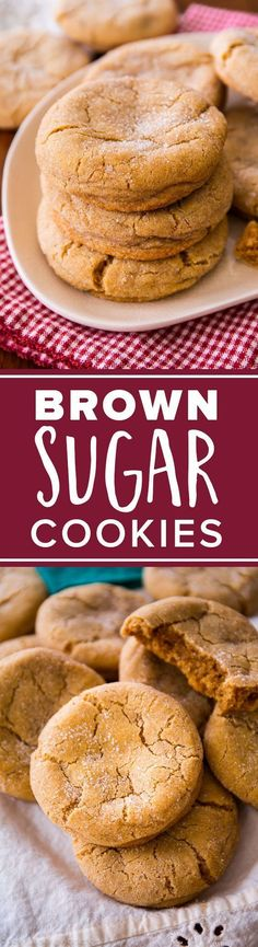 Super chewy brown sugar cookies are THE BEST. Easy cookie dessert recipe http://sallysbakingaddiction.com/2013/12/20/chewy-brown-sugar-cookies/