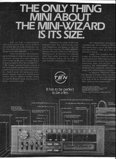1981 Fujitsu Ten Mini Wizard cassette stereo