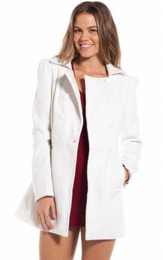 Aspen peacoat in white