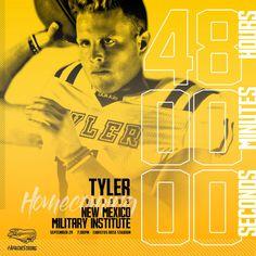Tyler Junior College Football 48 hour countdown – cates.design Junior College, College Football, Social Media, Design, Social Networks, Social Media Tips
