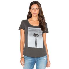 RVCA Twin Palms Tee ($26) ❤ liked on Polyvore featuring tops, t-shirts, graphic tees, graphic tops, graphic print tees, rvca t shirts, graphic design tees and palm tree t shirt