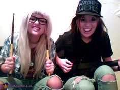@Rachelle- we TOTALLY need to do this for Halloween one year!! Wayne's World.