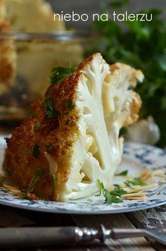 pieczony kalafior Jamie Olivier, Cauliflower, Cabbage, Food And Drink, Healthy Recipes, Healthy Food, Baking, Vegetables, Kitchen