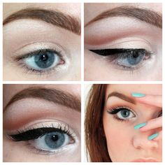 I think we should try this winged eyeliner look to help accentuate and make her big eyes pop in the photographs.