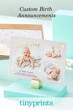 Welcome your new addition with custom birth announcements! From foil-stamped designs to envelope liners, personalize to perfection. These are cards your family and friends will love receiving in the mail!