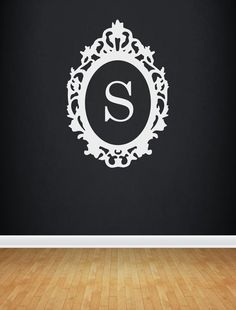Vinyl Frame Monogram Decal Vinyl Wall Vinyl Lettering by OZAVinylGraphics on Etsy