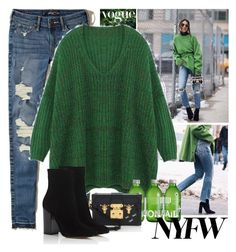 """""""-NYFW Street Style: Day One"""" by bmaroso ❤ liked on Polyvore featuring Hollister Co., Louis Vuitton, Gianvito Rossi, StreetStyle, NYFW, sportychic and camilacoelho"""