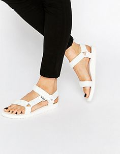 Teva Original Universal White Flat Sandals