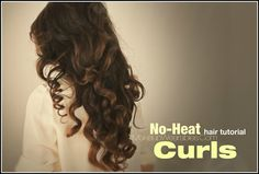pix1+marked Kim Kardashian Hairstyles, How to No Heat Curls | Hair Tutorial Video