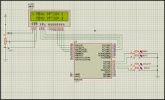 Selection Menu for Text LCD using Atmega 8 - Just Execute It Arduino Lcd, Cool Technology, Diy Electronics, Menu, Bullet Journal, Computers, Sketch, Menu Board Design, Sketch Drawing