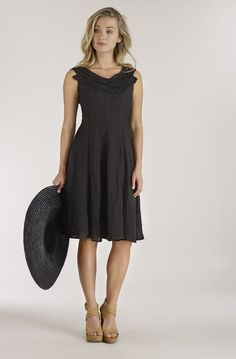 a2b8fb624d4 Luna Luz  Ruffled Bodice Princess Seamed Linen Gauze Midi Dress SOLD OUT
