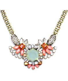 ++ Necklace in Soft Mint and Blush