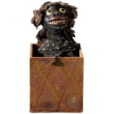 Gollywog in a Box | From a unique collection of antique and modern toys at http://www.1stdibs.com/furniture/folk-art/toys/
