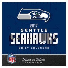 Seattle Seahawks 2017 Daily Boxed Calendar, Multicolor
