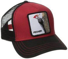 49a220e5 Men's Animal Farm Trucker Hat Black/Red Woodpecker One Size