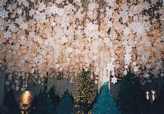 I totally want this to be my ceiling at Christmas
