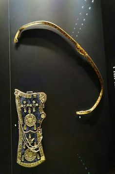 Ottoman bow and quiver, Topkapi Palace, Istanbul, Turkey.