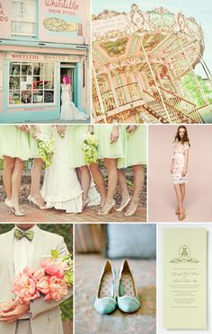 LOVE this #carnival inspiration board in #pinks and #greens